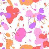 Abstrakt sömlös modellbakgrund som göras av färgrika rosa färger, purp Royaltyfria Foton