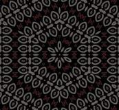Abstrakt sömlös svart för brunt sexhörningsprydnadför silvergrå färger röd Royaltyfri Foto