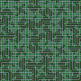 Abstrakt sömlös vektormodell av genomskärning av den fyrkantiga prydnaden Arkivfoto