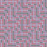Abstrakt sömlös vektormodell av genomskärning av fyrkantiga prydnader Royaltyfri Fotografi