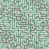 Abstrakt sömlös vektormodell av genomskärning av fyrkantiga prydnader Royaltyfria Bilder