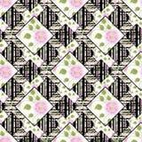 Abstrakt sömlöst blom- för patchwork, bakgrund för modelltexturljus med dekorativa beståndsdelar Arkivbilder