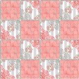 Abstrakt sömlöst snör åt blom- modelltexturkorall Royaltyfri Fotografi