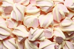 Abstrakt söt sammansättning av marshmallower royaltyfri bild