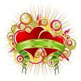abstrakt s-valentin royaltyfri illustrationer