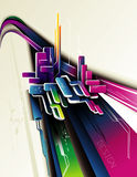 abstrakt sammansättning 3d Arkivbild