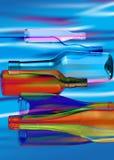 Abstrakt sammansättning av exponeringsglas bottles_3 Royaltyfria Bilder