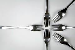 Abstrakt sammansättning av gafflar Arkivbild