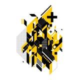 Abstrakt sammansättning av geometriska former vektor illustrationer