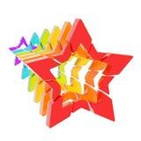 Abstrakt sammansättning av sex stjärnor Royaltyfria Foton
