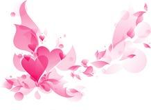 Abstrakt sammansättning för rosa färg. Fotografering för Bildbyråer