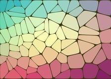 Abstrakt sammansättning med geometriska former för voronoi Royaltyfria Foton