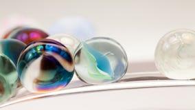 Abstrakt sammansättning med glass marmor Arkivbild