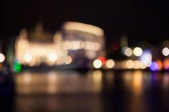 Abstrakt sammansättning med London ljus Arkivbilder