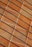 Abstrakt sammansättning med terrakottategelplattor och staketskuggor Royaltyfri Foto