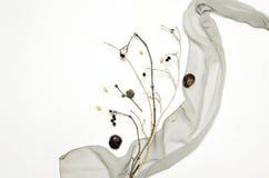 Abstrakt sammansättning med torkduken som är torr Arkivfoto