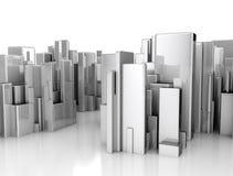 Abstrakt scape för stad 3d Arkivfoton