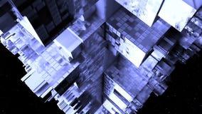 Abstrakt science fictionrymdskepp Arkivfoto