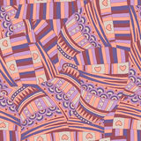 Abstrakt seamless mönstrar. Royaltyfria Bilder