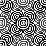 Abstrakt Seamless monokrom Royaltyfria Bilder