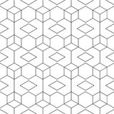 Abstrakt seamless svartvit modell Arkivfoto