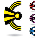 abstrakt serie för symbol 3d Vektor Illustrationer