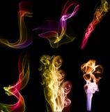 abstrakt serie rök Arkivbild