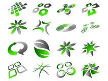 abstrakt set för designsymbolslogo Fotografering för Bildbyråer