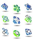 abstrakt set symboler Fotografering för Bildbyråer
