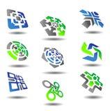 abstrakt set symboler Arkivbilder