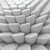 Abstrakt sexhörningsbakgrund för vit 3d som framför geometriska polygoner Arkivfoto