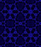 Abstrakt sexhörningsmodellmörker - blåa lilor svärtar Arkivfoto