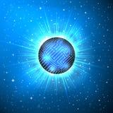 Abstrakt sfär av elektronisk strömkrets Arkivfoto