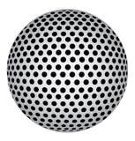 Abstrakt sfär 3D med svarta cirkelprickar också vektor för coreldrawillustration vektor illustrationer