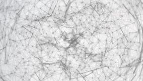 Abstrakt sfärform Abstrakt polygonal utrymmebakgrund abstrakt bakgrundsteknologi begrepp för planet 3d Vektor abstrakt 3d Royaltyfri Bild