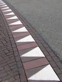 abstrakt sicksack för väglopptriangel Fotografering för Bildbyråer