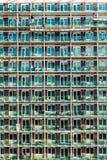 Abstrakt sikt av den moderna fasaden av byggnad i Northampton UK Arkivfoton