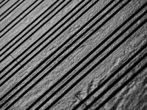 Abstrakt sikt av den svarta stentrappan Arkivbilder