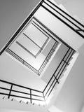 Abstrakt sikt av inomhus trappa Fotografering för Bildbyråer