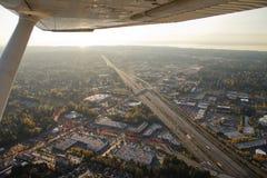 abstrakt sikt för flygplanhuvudvägsun Royaltyfri Bild