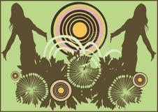 abstrakt silhouettes royaltyfri illustrationer