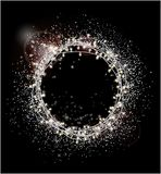 Abstrakt silver blänker bakgrund Ljusa stjärnor och lampor för H stock illustrationer