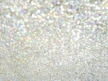 Abstrakt silverbokeh arkivfoto