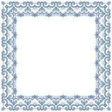 Abstrakt simmetric fyrkantig ram Royaltyfri Bild
