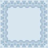 Abstrakt simmetric fyrkantig ram Royaltyfri Fotografi