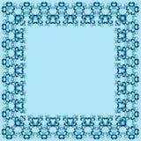 Abstrakt simmetric fyrkantig ram Arkivfoto