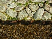 Abstrakt skała z woda przepływem Zdjęcia Stock