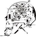 abstrakt skalle Arkivbild