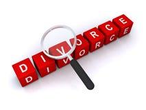 Abstrakt skilsmässatecken Royaltyfri Fotografi