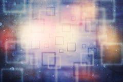 Abstrakt skinande färgrik oskarp fyrkantig datorbakgrund Fotografering för Bildbyråer
